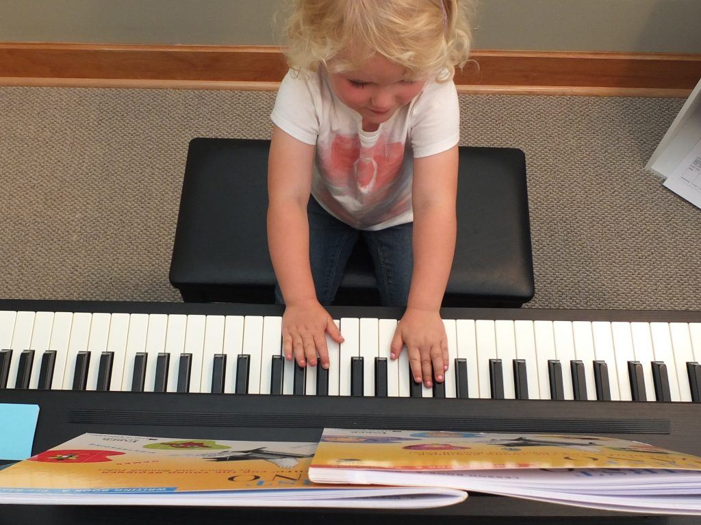 Olivia at piano
