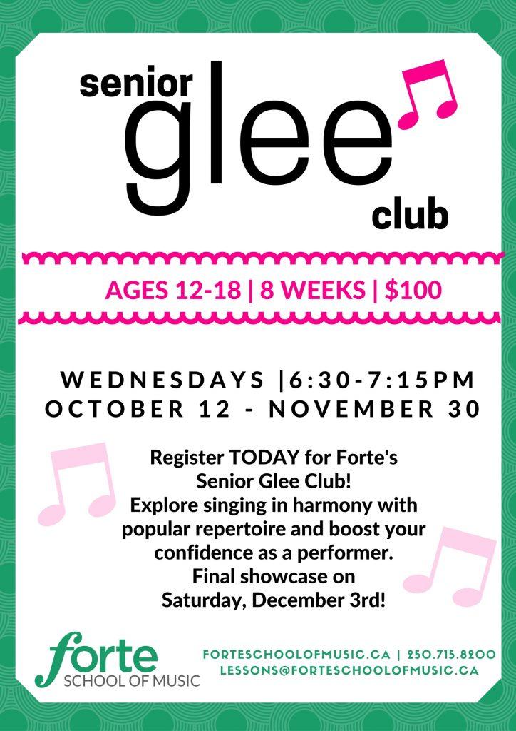 senior glee club fall 2016