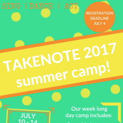 Takenote 2017 Summer Camp