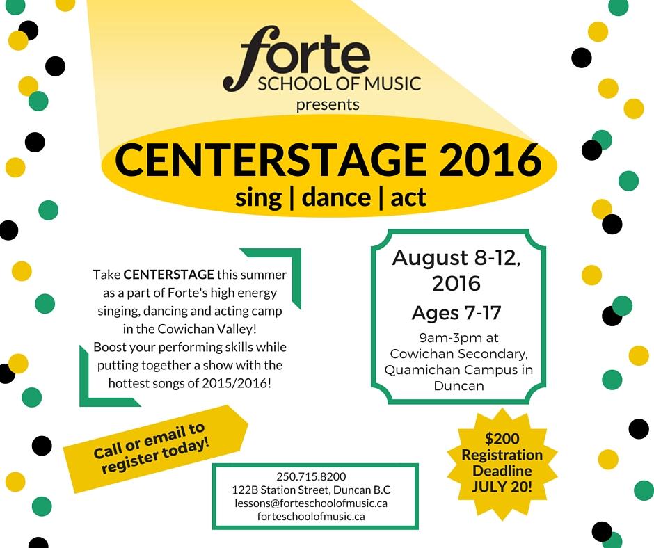Centerstage Music Summer Camp