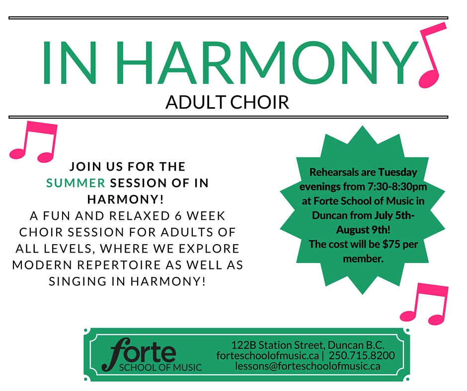 In Harmony Adult Choir - SUMMER