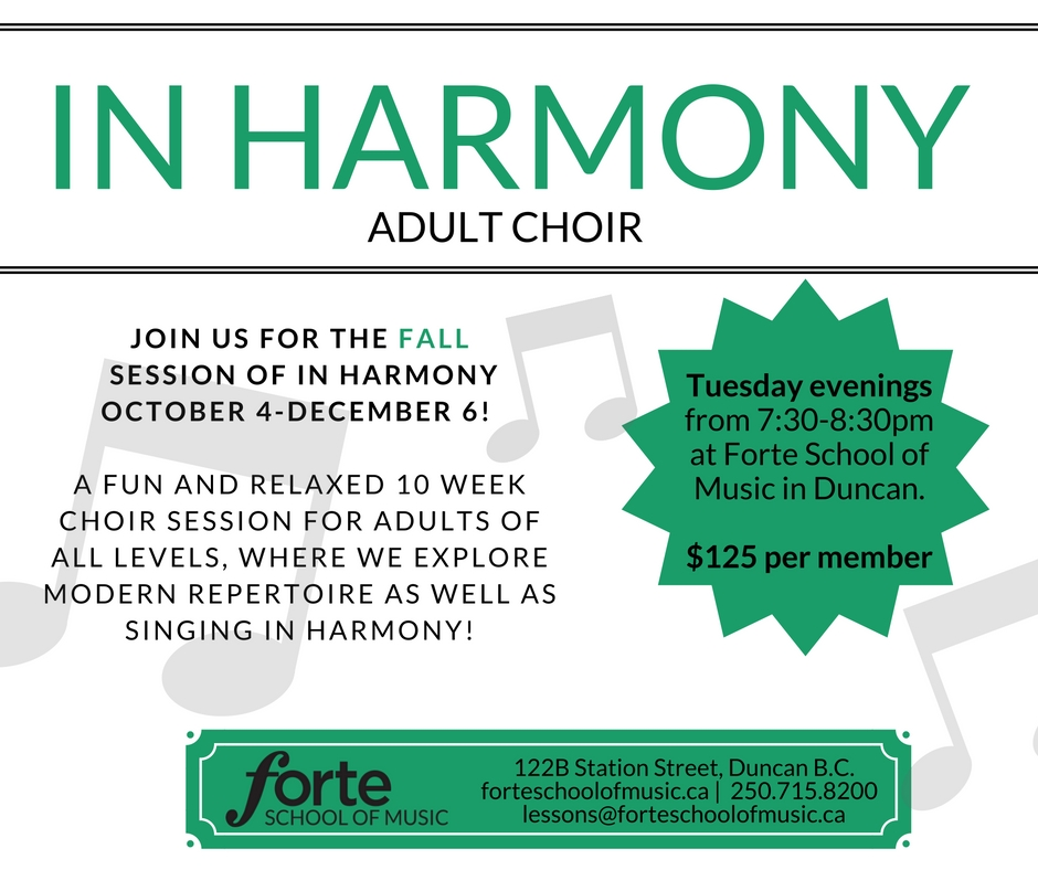 In Harmony Adult Choir Fall 2016