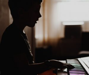 Child Piano Practice