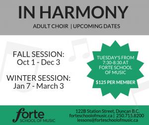 In Harmony Adult Choir