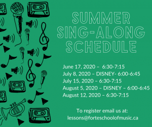 Summer Music Lessons - Group Sing