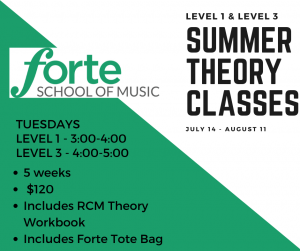 Summer Music Lessons - Theory