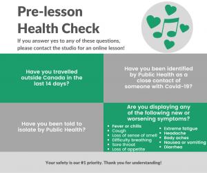 Pre-lesson Health Check
