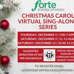 Christmas Carol Virtual Sing-along Series